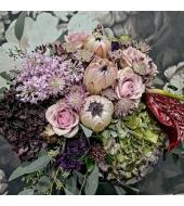 Luksuslik vintage-stiilis lillekimp (kevad/talv)